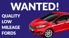 We are always looking for low mileage ford cars